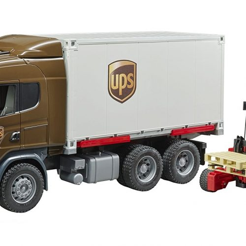 Bruder Scania R-Series UPS Logistics Truck and Forklift 03581