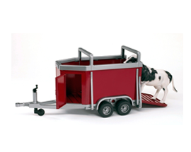 Bruder Cattle Trailer with Cow 2029
