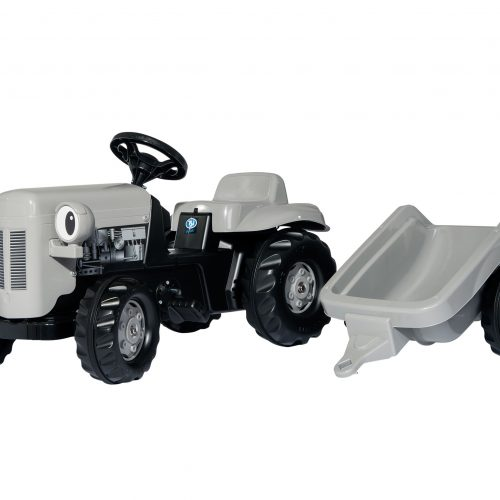 Little Grey Fergie Tractor & Trailer 01494