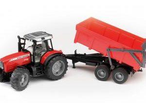 Massey Ferguson 7480 Tractor & Tipping Trailer 02045