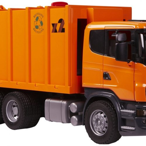 Bruder Scania R Series Garbage Truck- Orange 03560