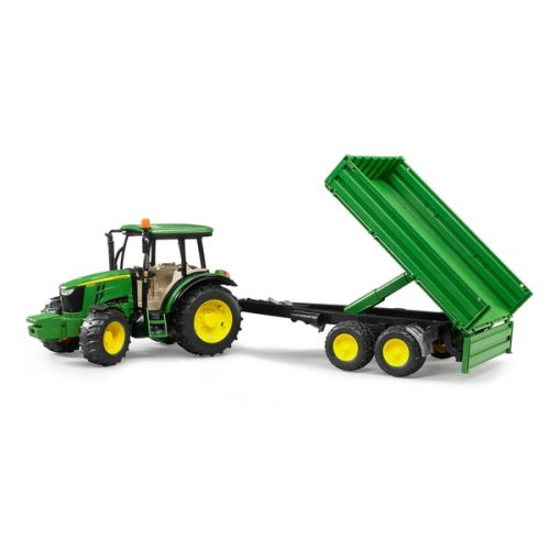 John Deere 5115M Tractor & Tipping Trailer 02108  / OUT OF STOCK