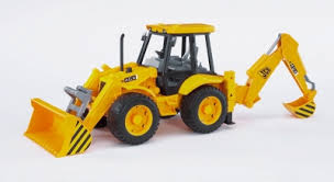 Bruder JCB 4CX Tractor with Front Loader and Digger  02428