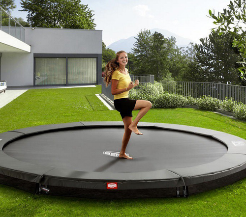 10ft Etan HD Hi-Flyer In-Ground Round Trampoline STOCK - GOOD