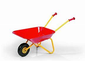 Rolly Metal Wheelbarrow- Red and Yellow 27080