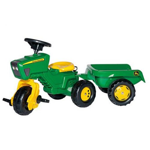 Rolly John Deere Trac and Trailer , 3 Wheels, with Sound Steering Wheel 05275
