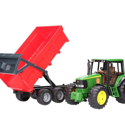 Bruder John Deere 6920 Tractor with Red Tipping Trailer 02057
