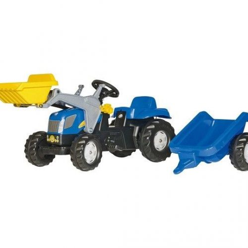 Rolly Kid NH Tractor, Loader & Trailer 02392