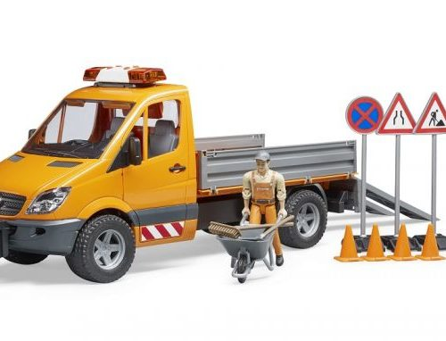 Bruder Mercedes Sprinter with Worker and Tools 02537