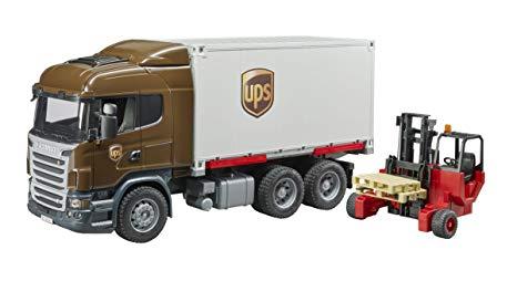 Bruder MACK Granite UPS Logistics Truck & Forklift 02828