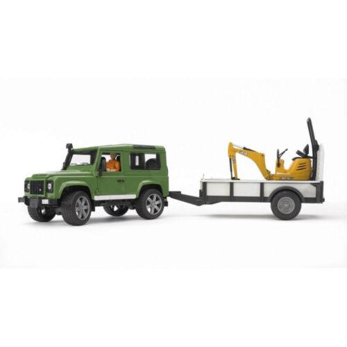 Bruder Land Rover Defender, Trailer, JCB Micro 02593 IN STOCK UNTIL 30/10/20