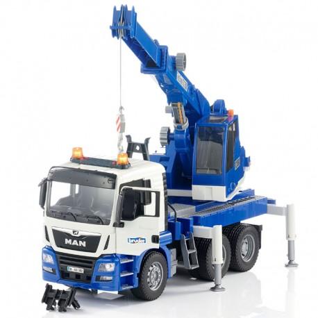 Bruder MAN TGS Crane Truck , Lights & Sound 03770