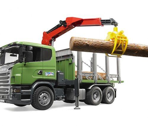 Bruder Scania R Series , Loading Crane & 3 Trunks 03524