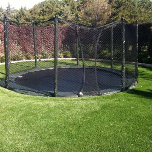 12 ft Etan HD Hi-Flyer In-Ground Round Trampoline & Enclosure-IN STOCK
