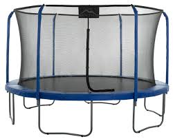 15 ft Skytric Round Trampoline with Safety Enclosure. IN STOCK END OF JULY