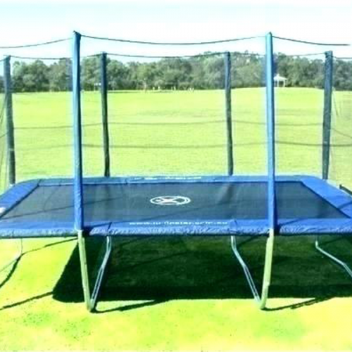 Rectangular Trampolines with Safety Enclosure