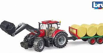 Bruder Case IH Tractor, Loader , Trailer & Bales 03198