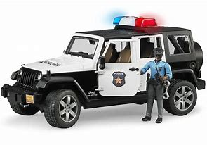 Bruder Jeep Wrangler Rubicon Police Vehicle 02527