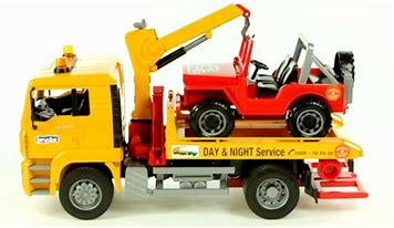 Bruder MAN TGA Breakdown Truck with Vehicle 02750