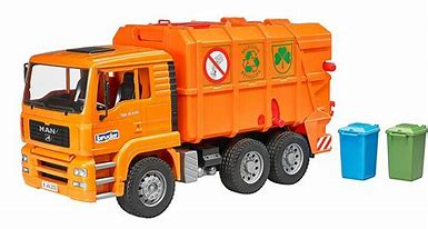 Bruder MAN TGA Orange Refuse Truck 02760