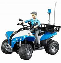Bruder Bworld Police Quad with Police Woman B63010