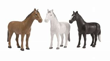 Bruder Farm Toy  4 Assorted Horses 02306