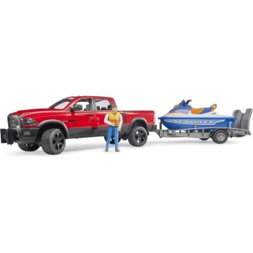 Bruder RAM 2500 Wagon , Trailer Jet Ski, Driver 02503
