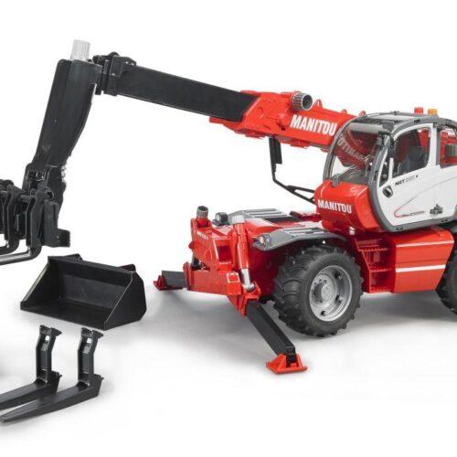 Bruder Manitu Telescopic Forklift 2150 & Accessories 02129.  In Stock until 14/11/20