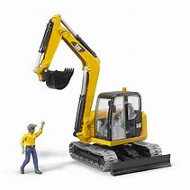 Bruder Cat Mini Excavator / Digger with Worker 02466