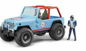 Bruder Jeep Cross-Country Racer Blue , Driver 02541