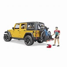 Bruder Jeep Wrangler Rubicorn , Bike & Cyclist 02543