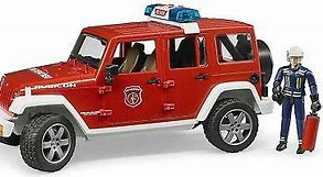 Bruder Jeep Wrangler Fire Engine with Fireman 02528