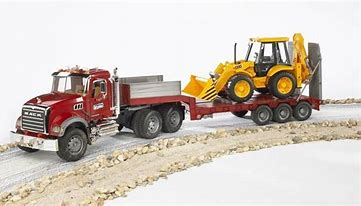 Bruder MACK Granite Truck / Low Loader/ Dozer 02813