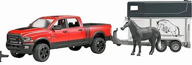 Bruder  Ram 2500 Power Wagon and Trailer , 1 Horse 02501
