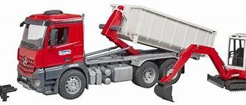 Bruder Mercedes Arcos Truck , , Container, Mini Excavator 03624
